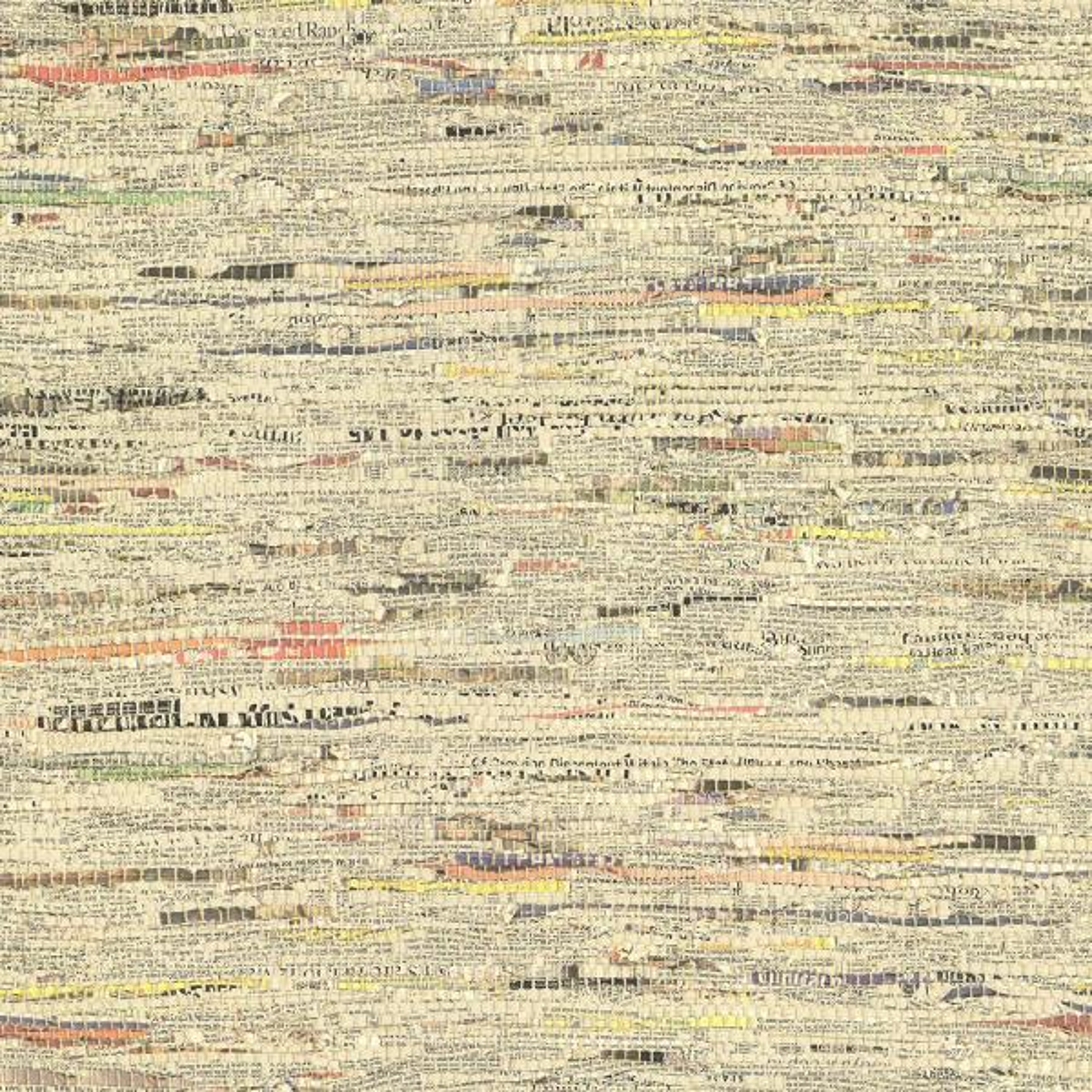 Brewster Clip Multi Color Newspaper Print Wallpaper Sample 2704-20285SAM