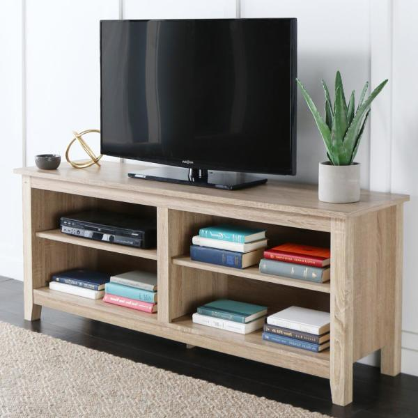 "Walker Edison Furniture Company 58"" Rustic Wood TV Stand - Natural"