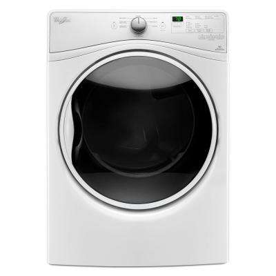 7.4 cu. ft. Front Load Electric Dryer with Advanced Moisture Sensing in White, 8 Cycles