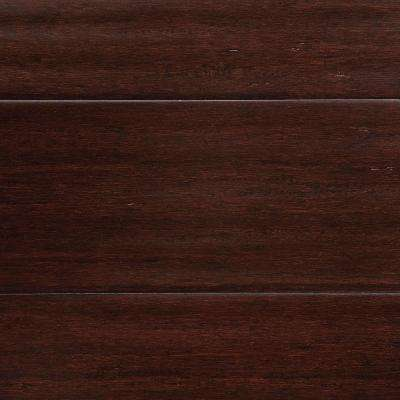 Take Home Sample - Hand Scraped Strand Woven Walnut Click Lock Bamboo Flooring - 5 in. x 7 in.