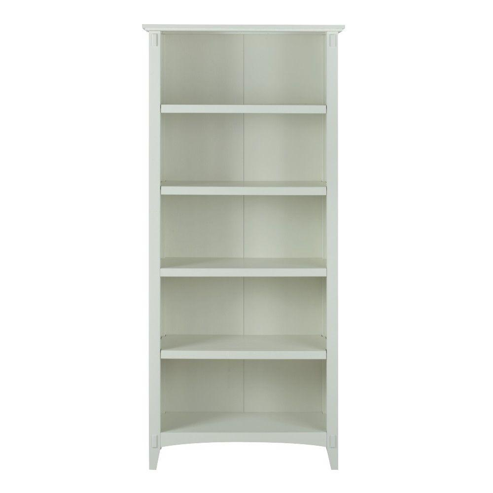 Artisan White Open Bookcase