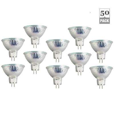 50-Watt MR16 with Cover 38-Degree Beam Angle Clear Halogen Light Bulbs (50-Pack)
