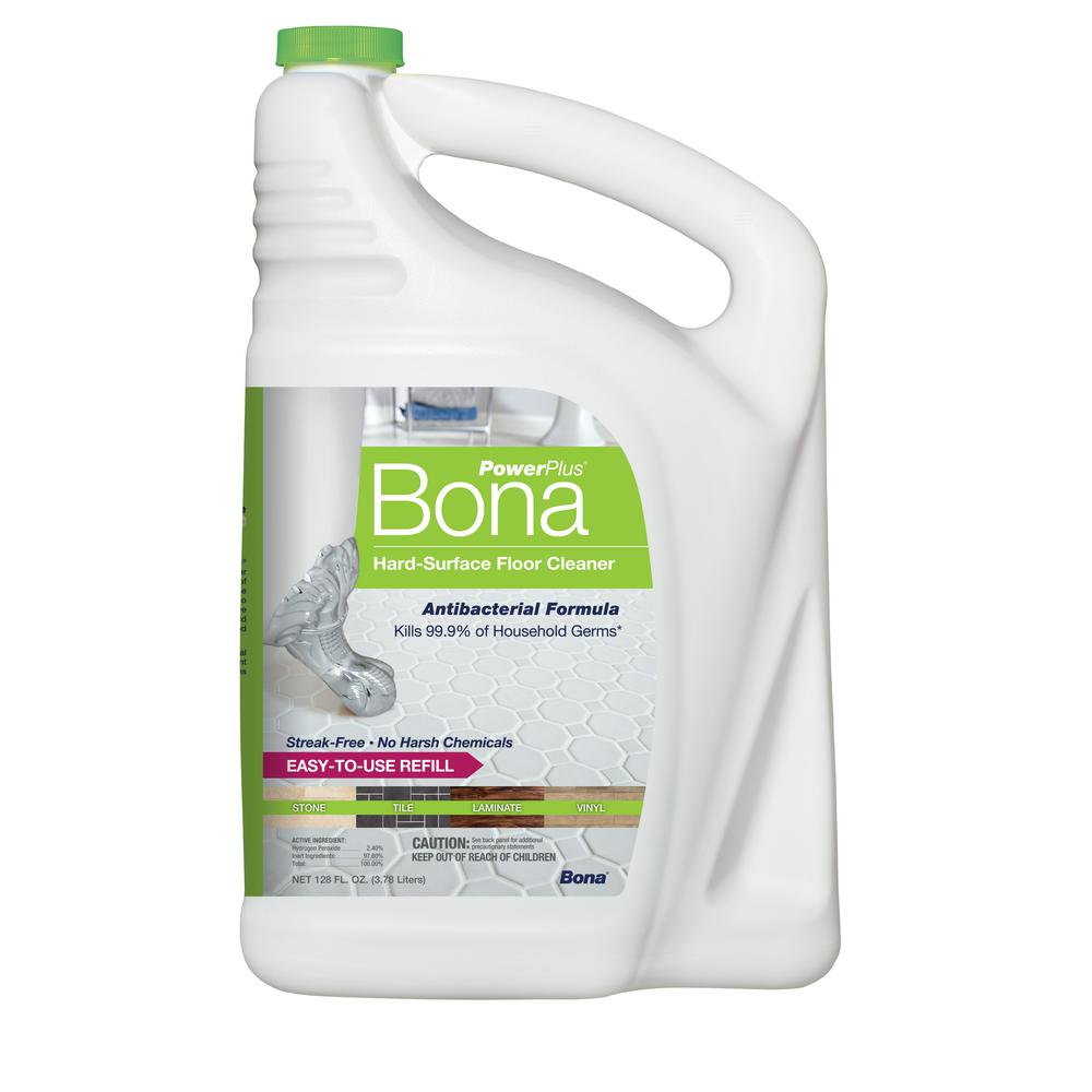 Bona PowerPlus 128 oz. Hard-Surface Antibacterial Floor Cleaner Refill