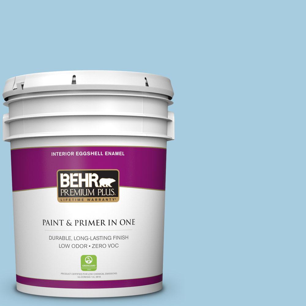 BEHR Premium Plus 5-gal. #M490-2 Carefree Sky Eggshell Enamel Interior Paint