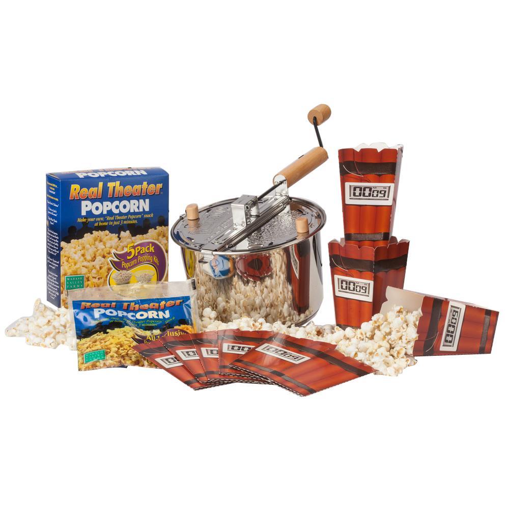 Whirley 3-Piece Stainless Steel Popcorn Popper Set