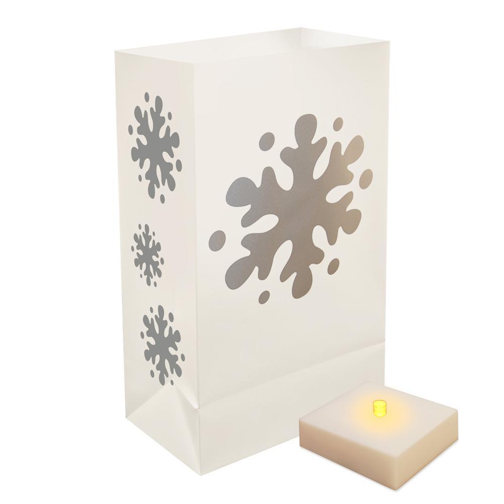 LumaLite Snowflake Luminaria Kit (6-Count)