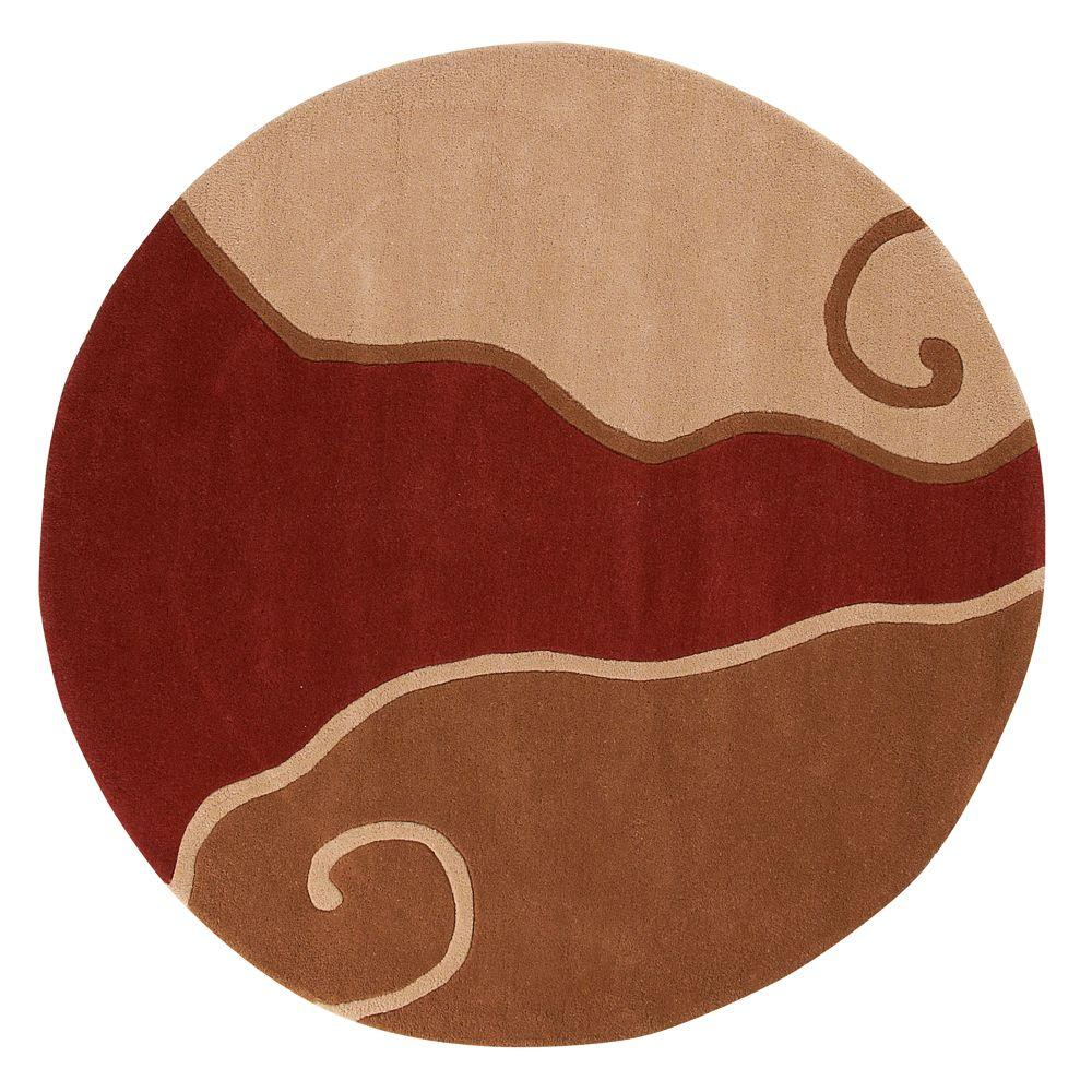 Home Decorators Collection Divani Terra and Beige 5 ft. 9 in. Round Area Rug