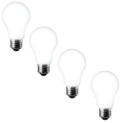 60W Equivalent Daylight A19 Dimmable LED Light Bulb (4-Pack)