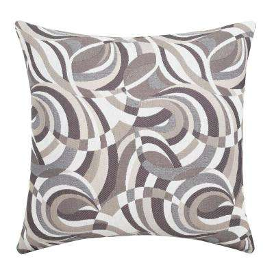 Loren 18 in. Taupe Contemporary Standards Throw Pillow (Set of 2)