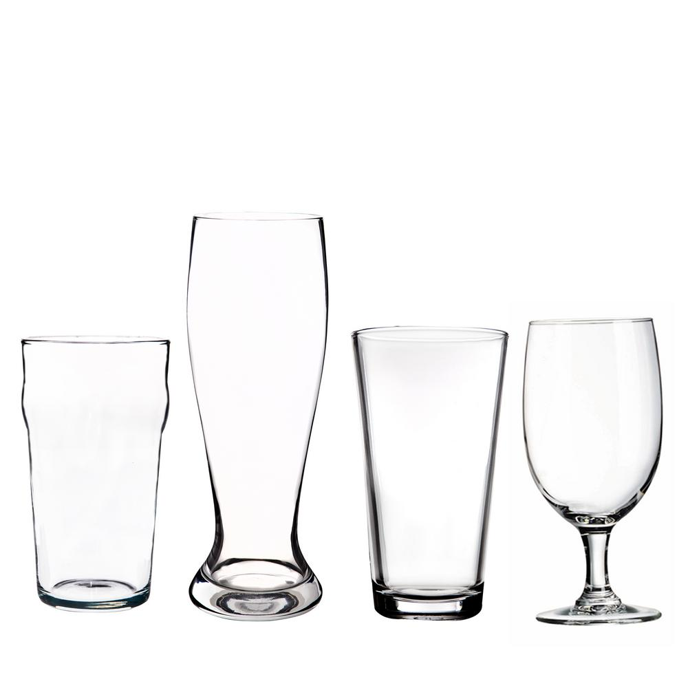 HOME ESSENTIALS & BEYOND Assorted Glass Beer Set (Set of 4)-5230 ...