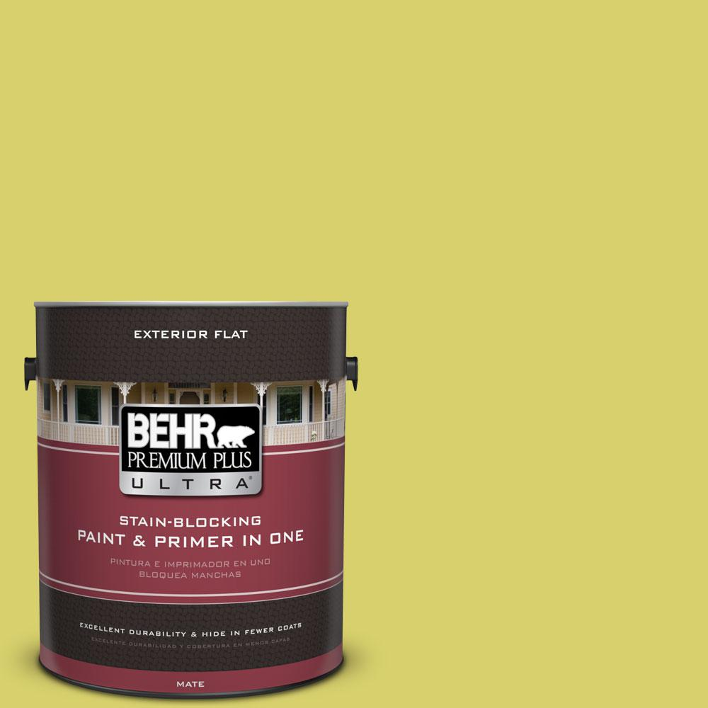 BEHR Premium Plus Ultra 1-gal. #P340-4 Lime Tree Flat Exterior Paint