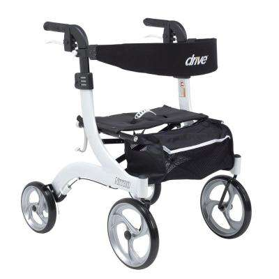 Nitro Euro Style Walker Rollator - Hemi Height in White