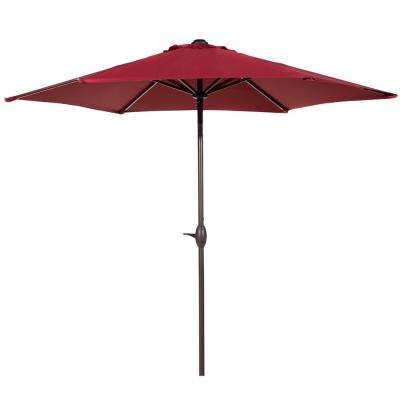 Market Outdoor Aluminum Table With Push Button Tilt And Crank Patio Umbrella  In