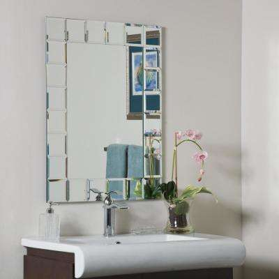 31.5 in. x 23.6 in. Rectangle Montreal Modern Bathroom Mirror with Beveled Edge