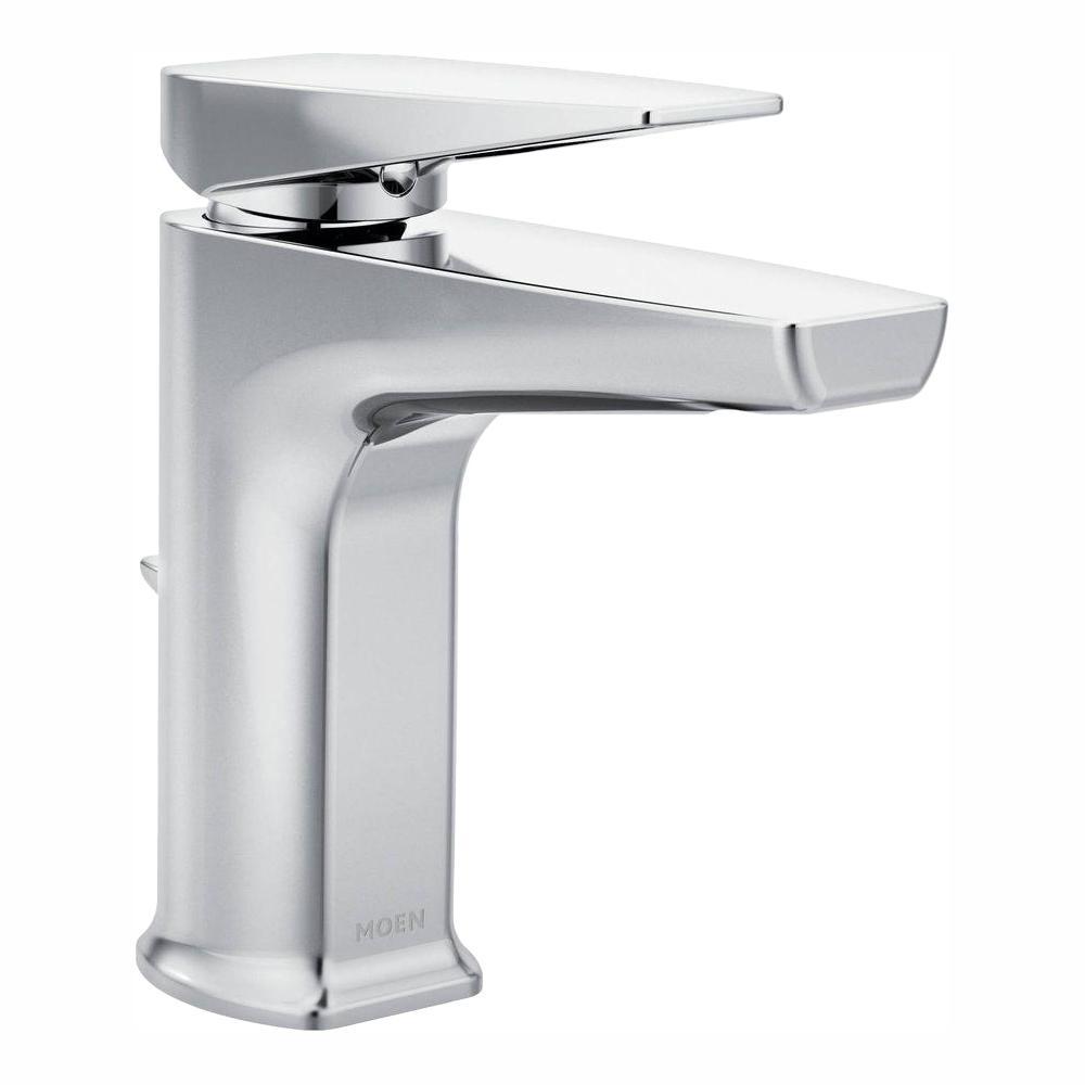 MOEN Via Single Hole Single-Handle Bathroom Faucet in Chrome