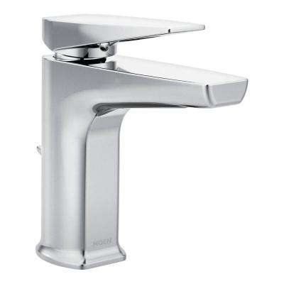 Via Single Hole Single-Handle Bathroom Faucet in Chrome