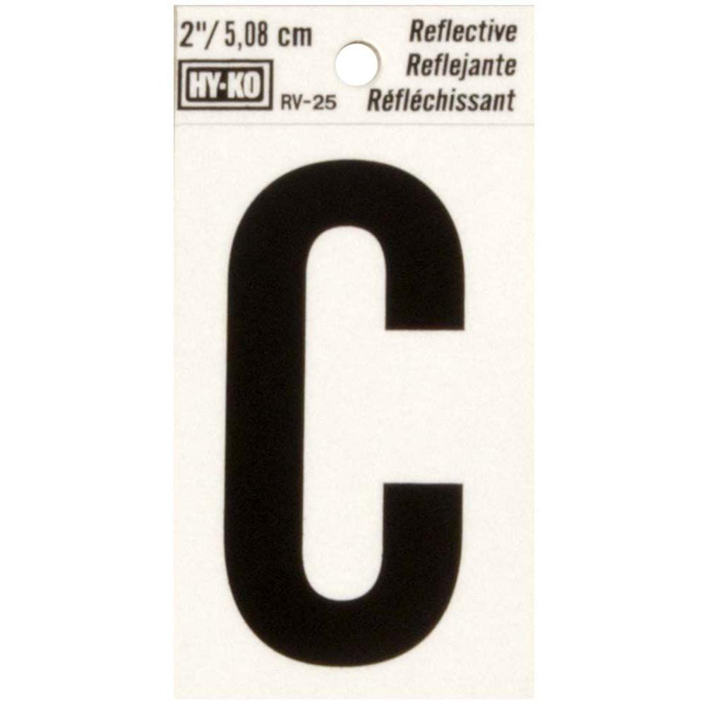 The Hillman Group 2 in. Vinyl Reflective Letter C-839324 ...