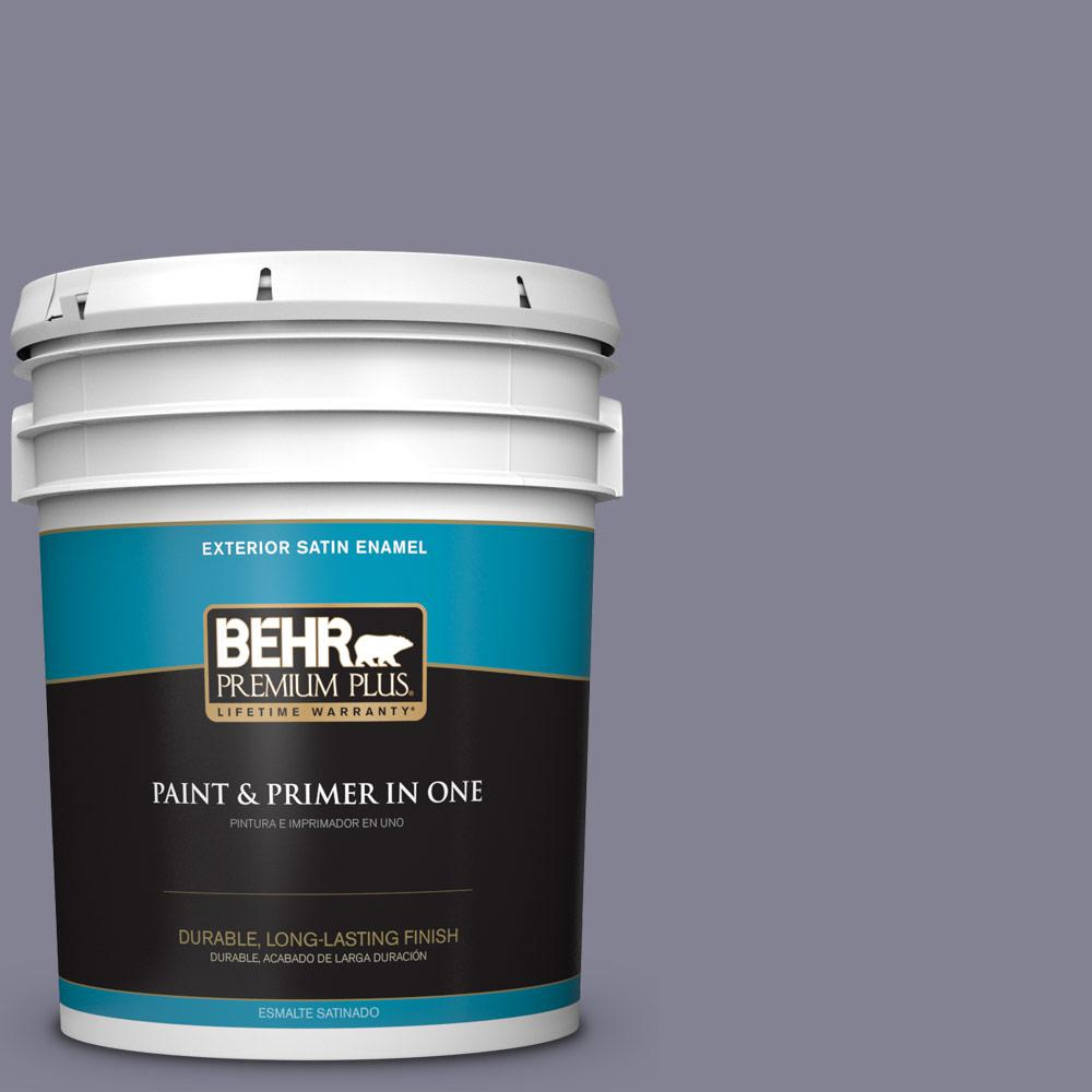 5 gal. #PPU16-16 Metro Satin Enamel Exterior Paint and Primer in