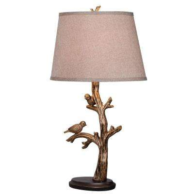 Tweeter 27 in. Bronzed Table Lamp