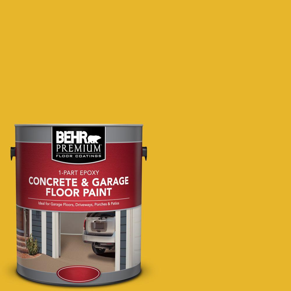 1 gal. #OSHA-6 Osha Safety Yellow 1-Part Epoxy Concrete and Garage Floor Paint