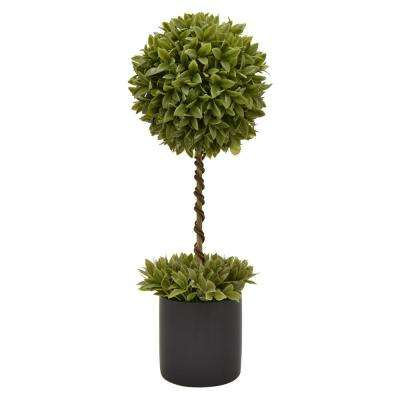 8 in. x 8 in. Green Faux Topiary Pot