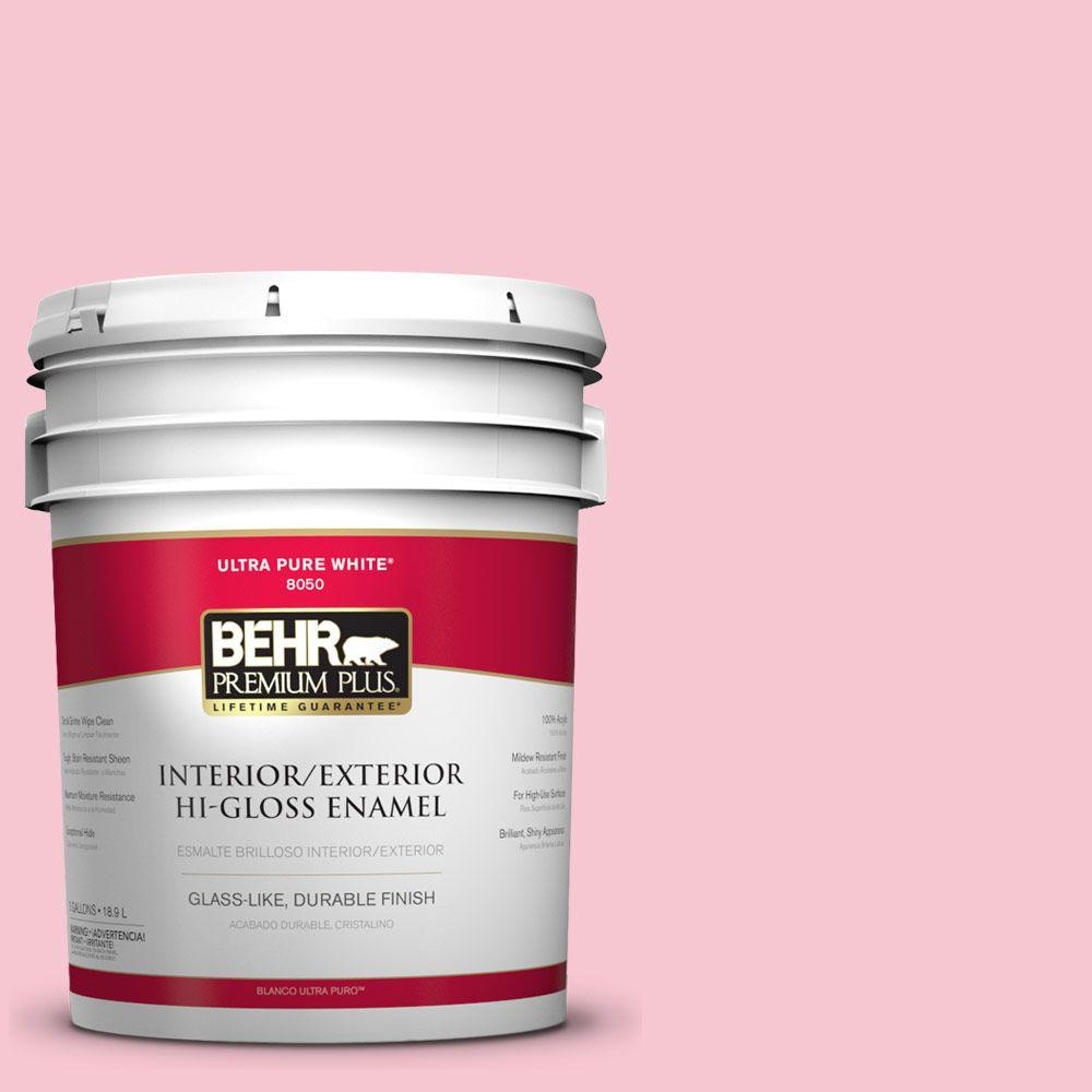 5-gal. #120B-4 Old Fashioned Pink Hi-Gloss Enamel Interior/Exterior Paint