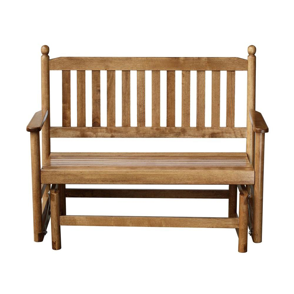 2-Person Maple Wood Outdoor Patio Glider