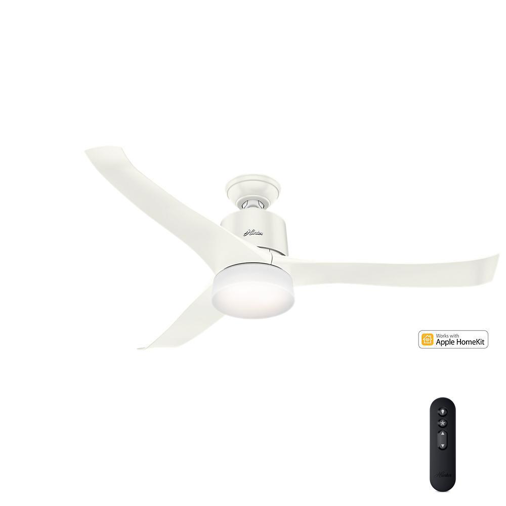 ceiling fan alexa. led indoor fresh white wifi/apple home kit enabled ceiling fan alexa