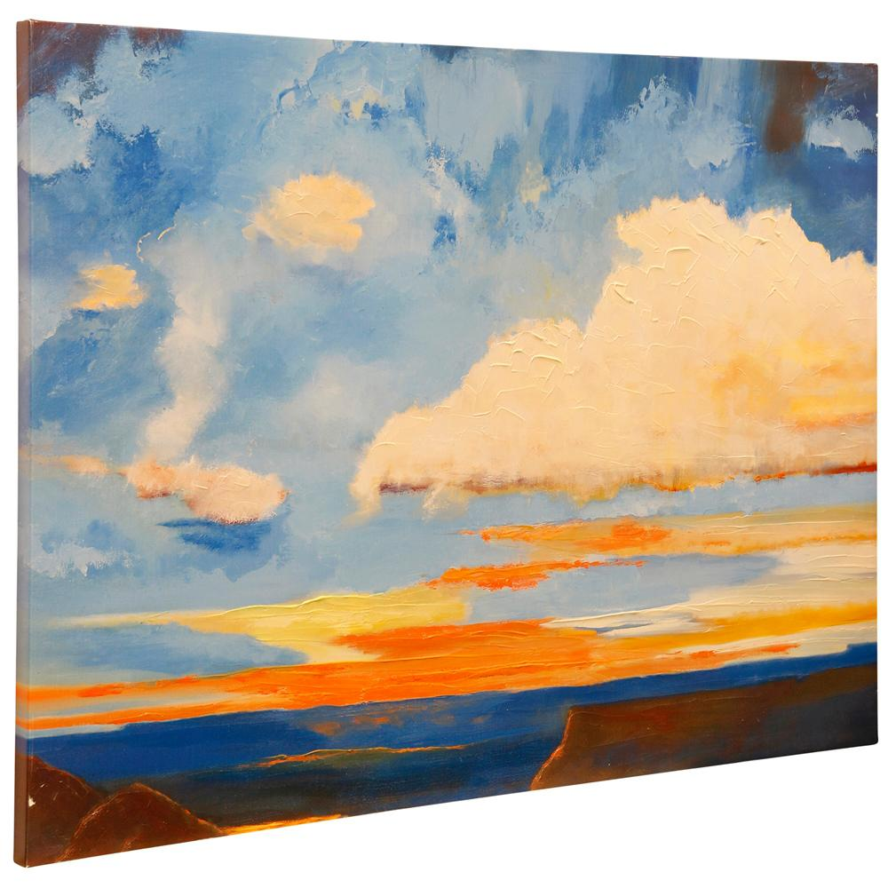 StyleCraft Oxidized Skies II Multicolored Canvas Wall Art was $159.99 now $60.72 (62.0% off)