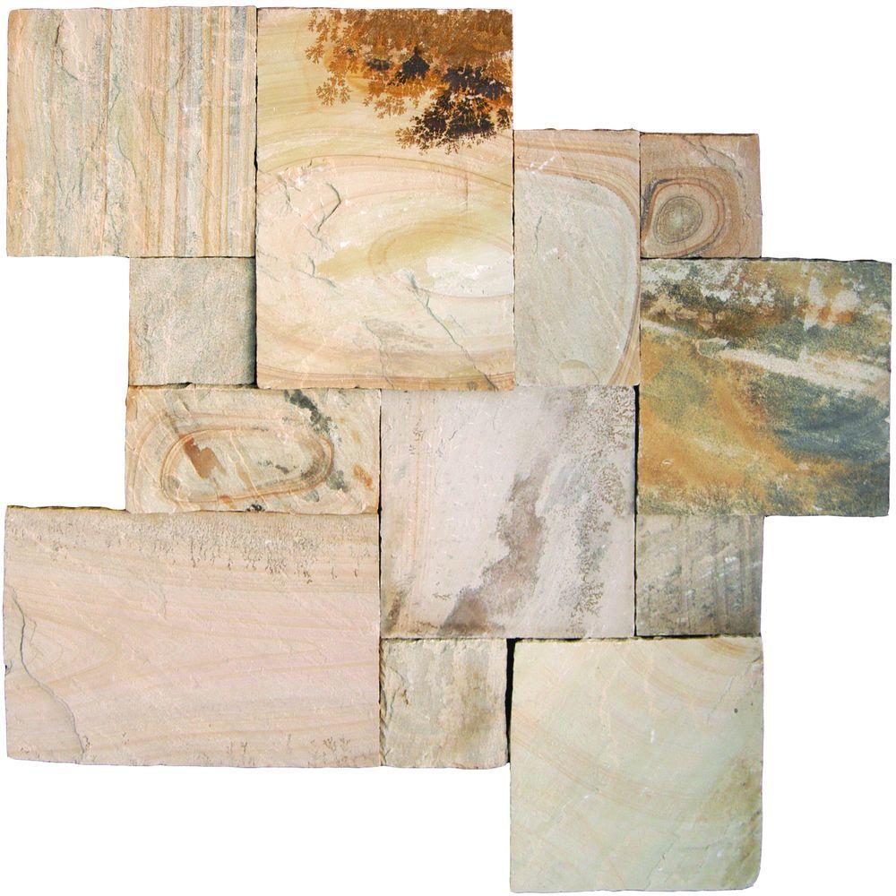 MS International Fossil Rustic Sandstone Paver Kits (4 Kits / 144 sq. ft. / Pallet)
