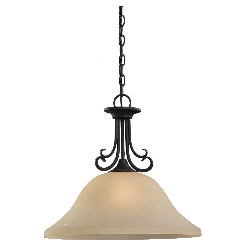 Del Prato 1-Light Chestnut Bronze Pendant