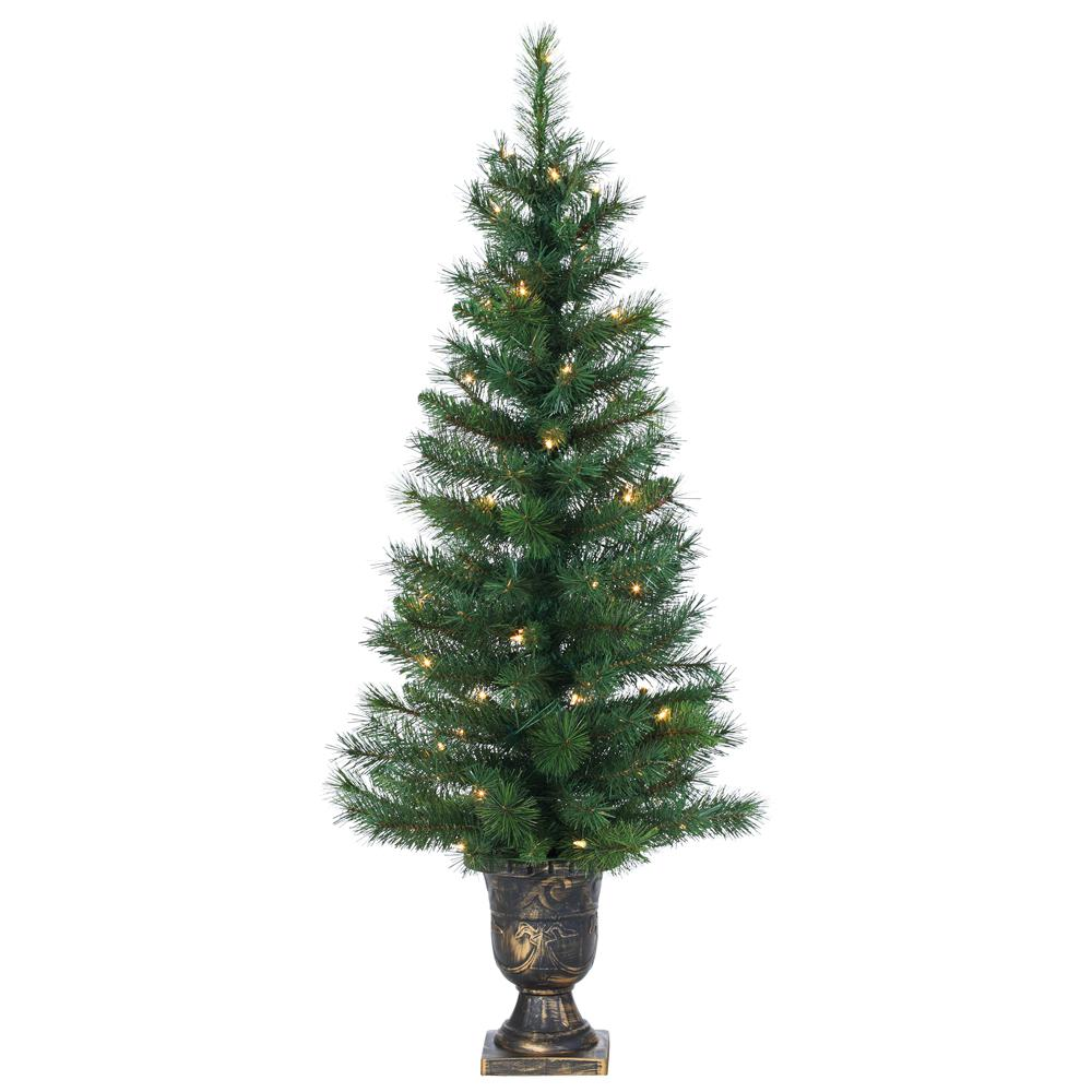 Christmas Tree Needles: Sterling 4 Ft. Indoor Pre-Lit Hard Needle Idaho Pine