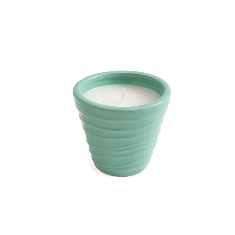 PATIO COMPANION Outdoor Citronella Candles In Wavy Texture Pot (3 Assorted  Styles)