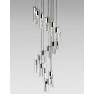 Kara 18-Light 60-Watt Equivalence Chrome Integrated LED Pendant