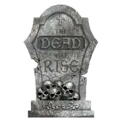 22 in. Halloween The Dead Will Rise Styrofoam Tombstone (2-Pack)