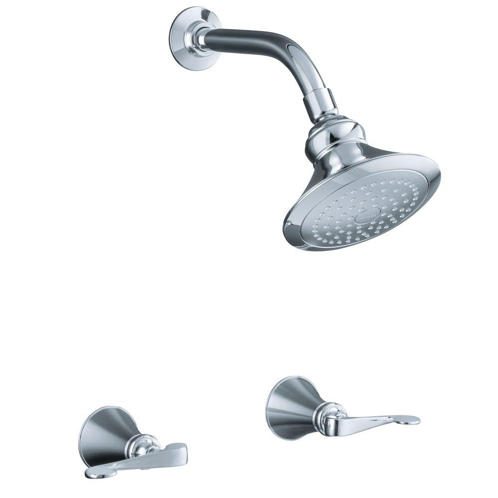 KOHLER Revival 2-Handle 1-Spray Shower Faucet with Standard ...