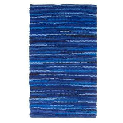 Chindi Tonal Navy 1 ft. 9 in. x 2 ft. 10 in. Area Rug