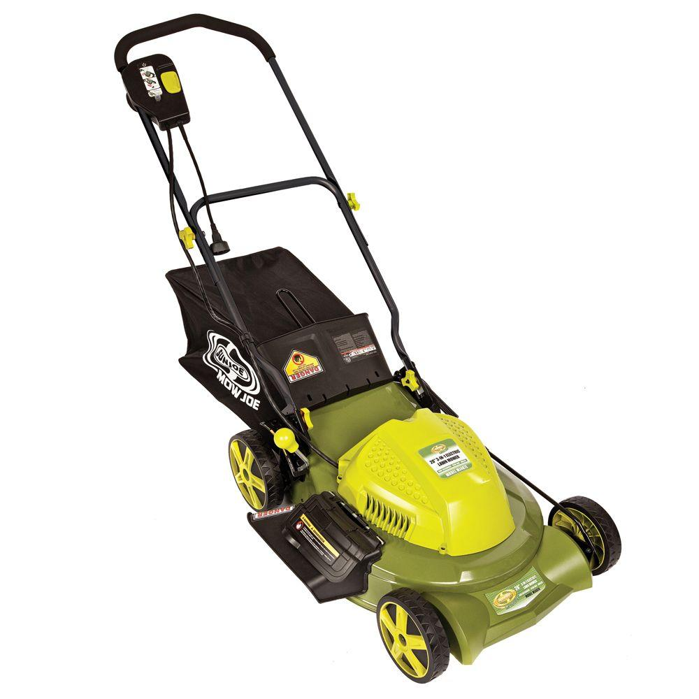 Sun Joe Reconditioned Mow Joe MJ407E 20 in. 3-in-1 Electric Lawn Mower with Side Discharge