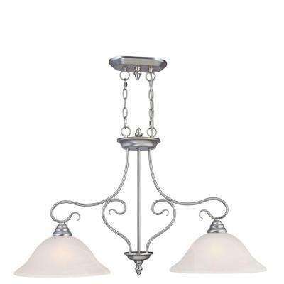 Providence 2-Light Ceiling Brushed Nickel Incandescent Island Pendant