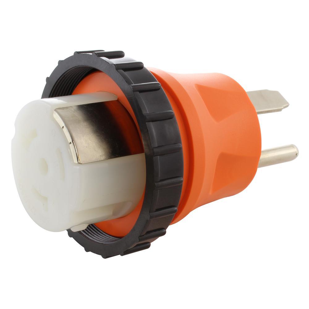 AC Connectors NEMA 14-50P 4-Prong 50 Amp RV/Generator Plug to RV/Marine 50 Amp Detachable Inlet Adapter