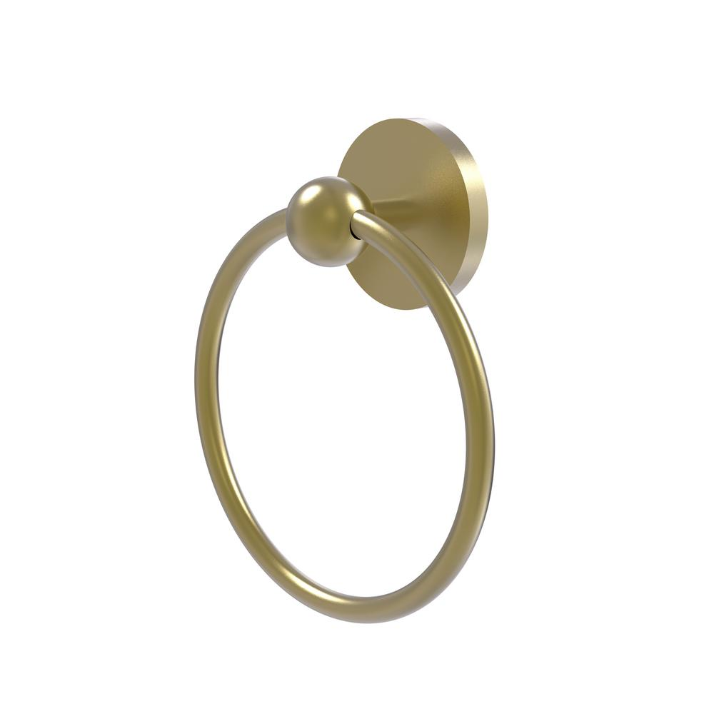 Allied Brass Skyline Collection Towel Ring in Satin Brass