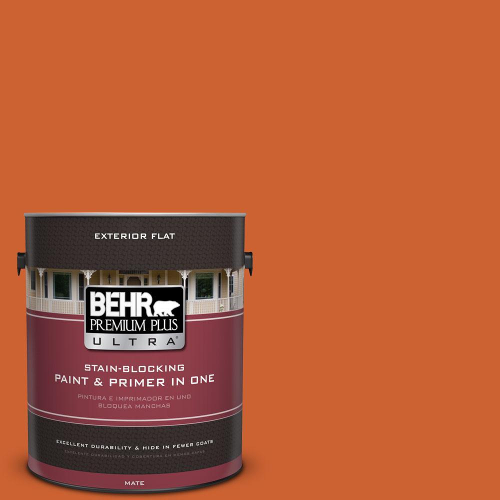 BEHR Premium Plus Ultra 1-gal. #S-H-250 Pumpkin Patch Flat Exterior Paint