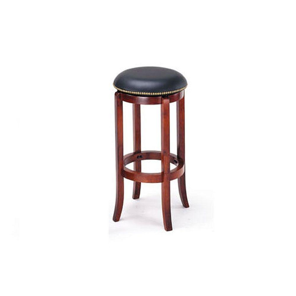Home Decorators Collection Bethany 29 in. H Cherry Swivel Bar Stool-DISCONTINUED