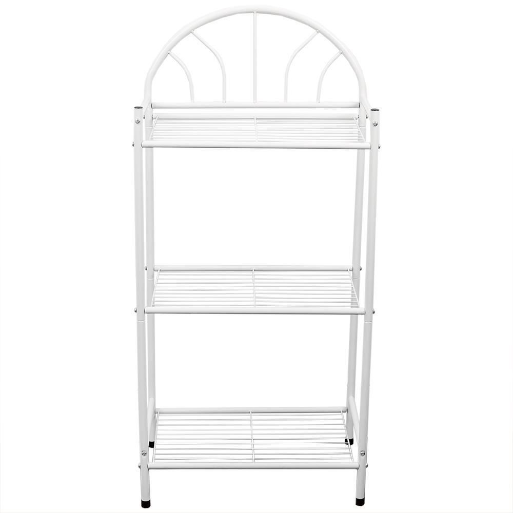 11 in. W x 17 in. D Multi-Purpose Bath Storage Shelf in White Enamel Coated Steel
