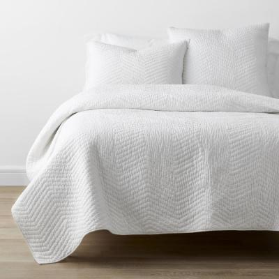 Company Cotton White Solid Full/Queen Quilt