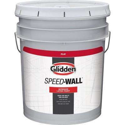 5 gal. Speedwall White Flat Interior Latex Paint