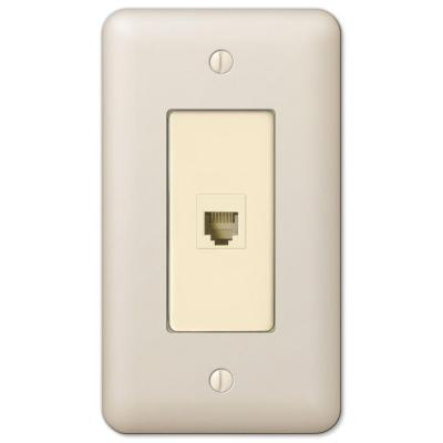 Declan 1 Gang Phone Steel Wall Plate - Almond