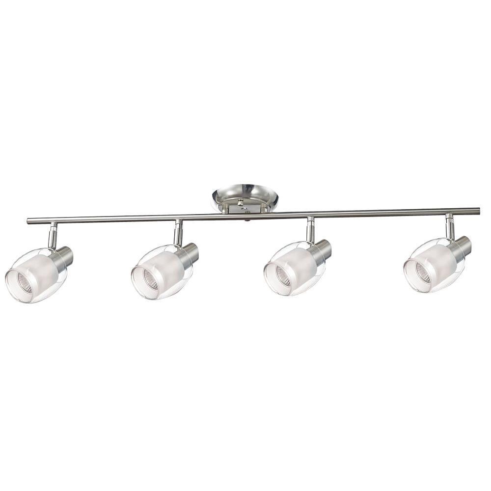 Salem Collection 4-Light Nickel Track Lighting Fixture