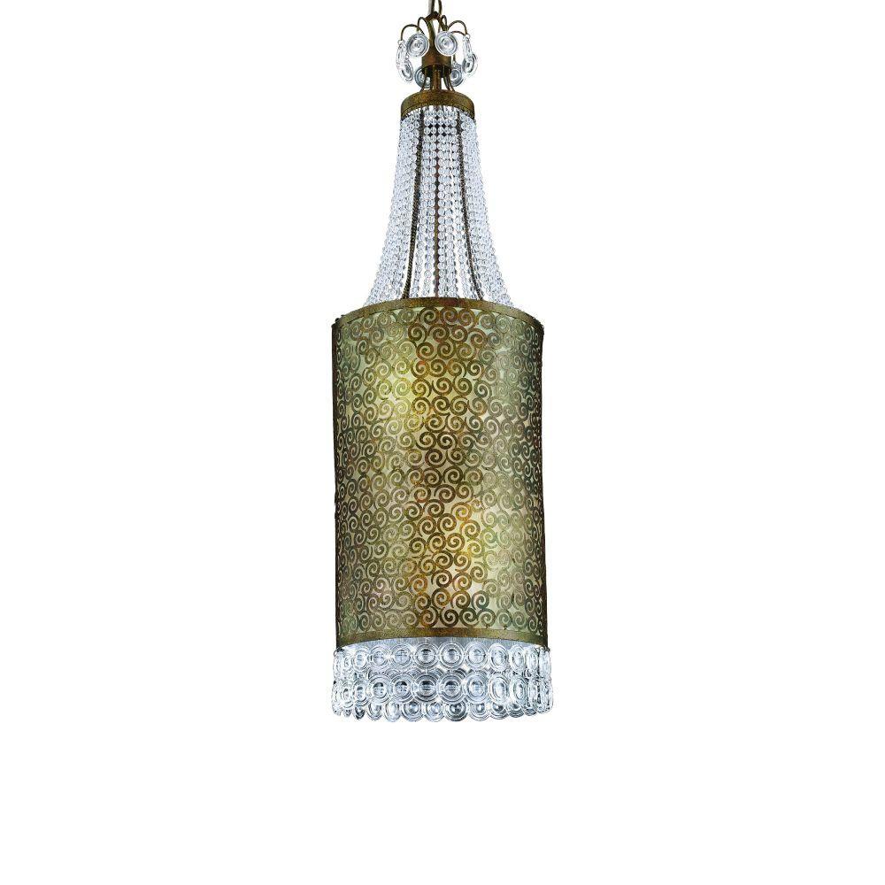 Caramel Collection 9-Light Ancient Bronze Hanging Large Pendant