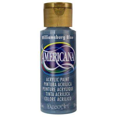 Americana 2 oz. Williamsburg Blue Acrylic Paint